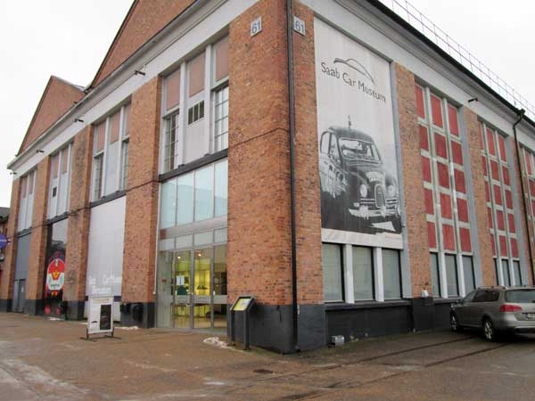 saab museum on akerssjovagen 18 in trollhatten